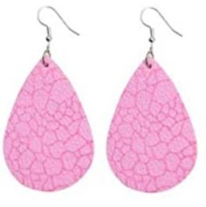 BOGO Pink & Purple Faux Leather Earrrings